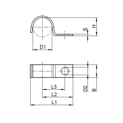 Kabelschellen DIN 72571 Set 9 mm Edelstahl A4 25 Stück